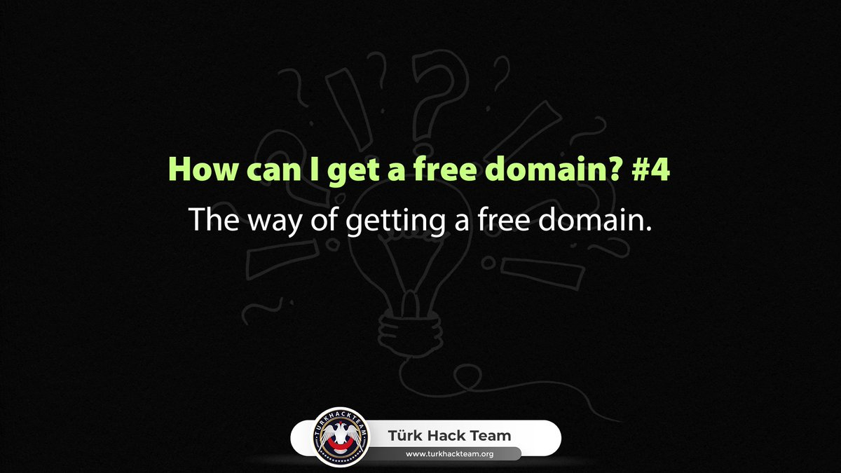 How can I get a free domain? #4      https://www. turkhackteam.org/help-center/19 21038-how-can-i-get-free-domain-4-a.html  …   #cybersecurity #domain #hosting #web #seo #webdevelopment #webhosting #code<br>http://pic.twitter.com/liOR2pTtAk