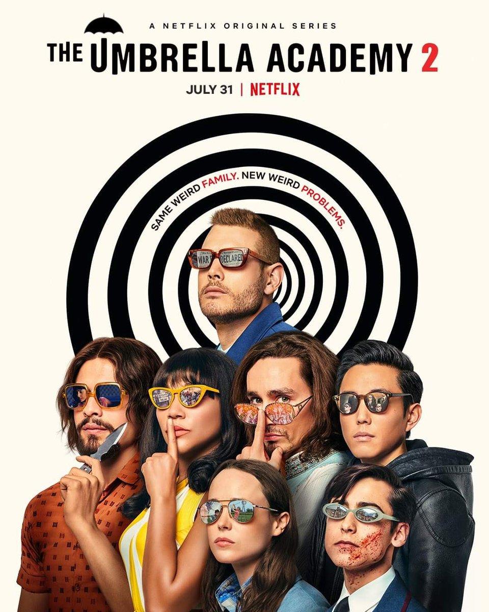 Tenemos nuevo póster de la segunda temporada de #TheUmbrellaAcademy. La continuación de la serie de #Netflix llegará a la plataforma este 31 de julio. ¿La esperan? https://t.co/daHmmOEZCG