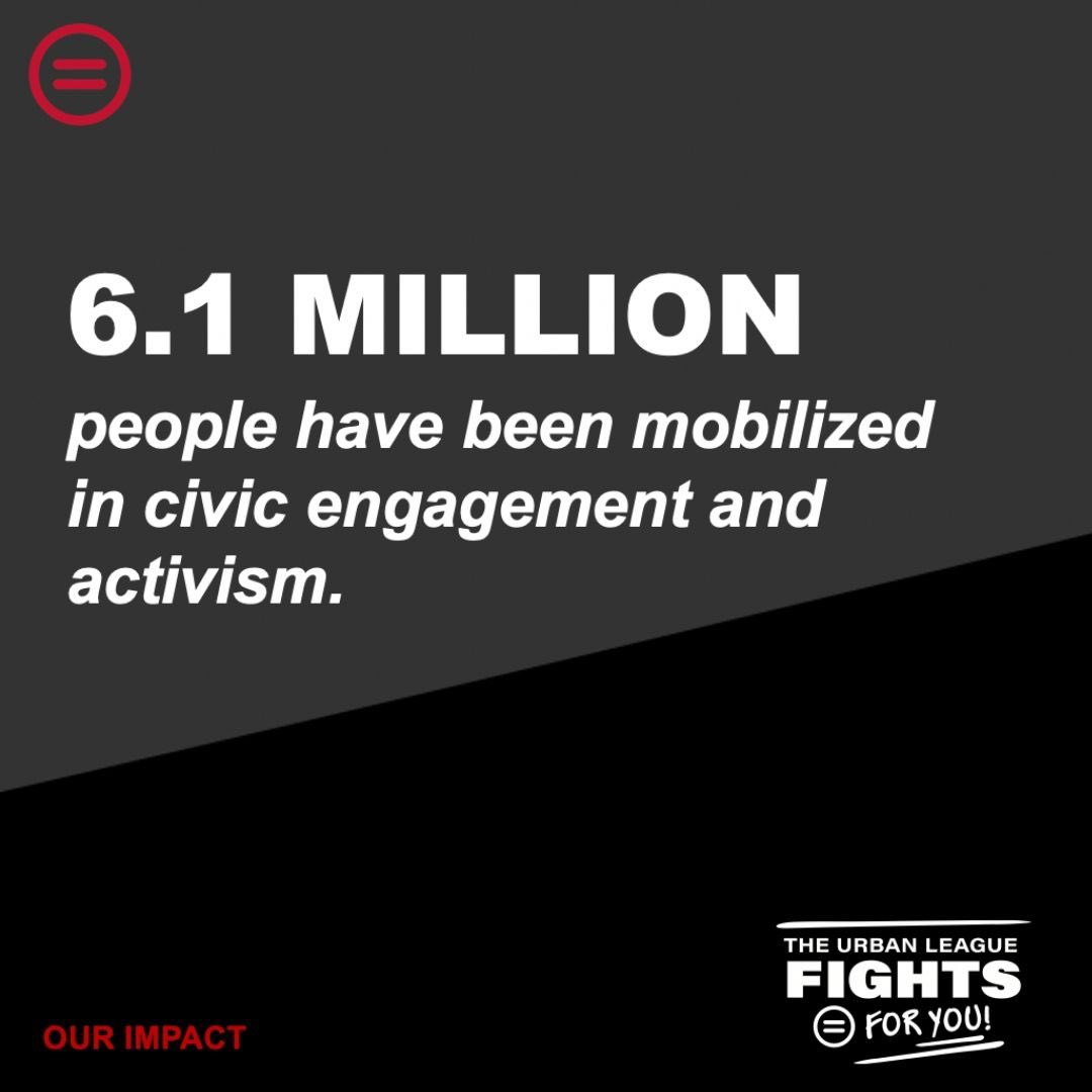🗳 Voting 📣 Pushing for meaningful policies ✊🏾 Mobilizing people to action  These have been a huge foundation of the work that we do in communities across the country.  Visit https://t.co/mzGTdXdRVL to learn more + get involved. We need you! #NatUrbanLeague https://t.co/PIGpQnL4av