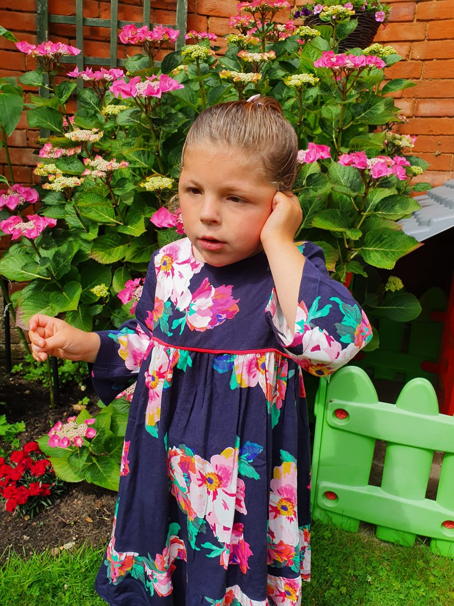 My little squiggle in her @Joulesclothing dress. Looking adorable, love her so much! 😀💐💕 https://t.co/0PVO4yv9vq