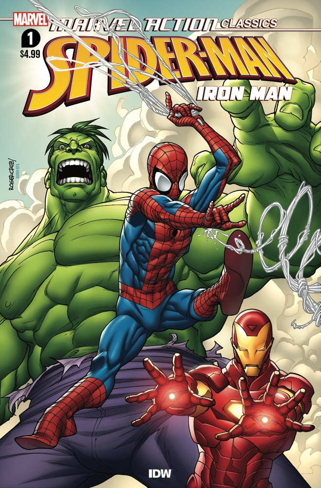 Fly into action with these exciting stories about Iron Man! First, when Klaw, the master of sound, decides to start a country and western band, Iron Man, Spider-Man, and Hulk investigate why! Pick up MARVEL ACTION CLASSICS AVENGERS STARRING IRON MAN #1 in stores this week! https://t.co/SGNgkDeNML