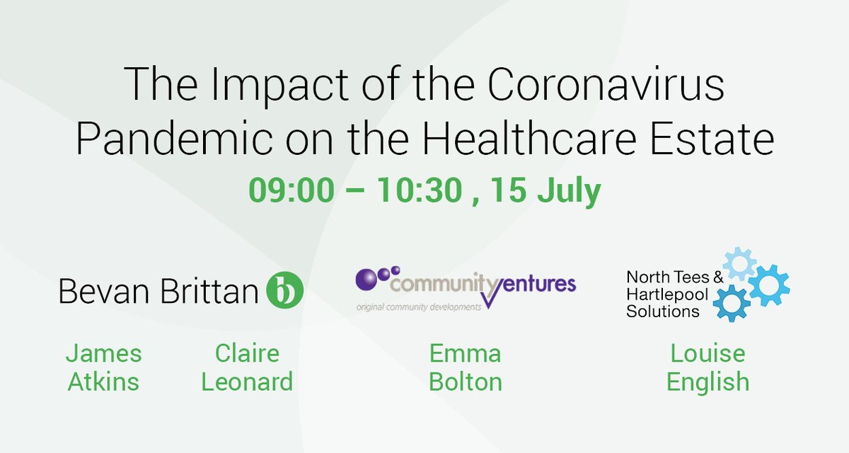 Join us online for our Healthcare Estates Breakfast Briefing on 15th July at 09:00 to discuss the impact of COVID-19 on the #healthcare estate.  https://t.co/5XrOpgdAwH https://t.co/eGsnkU1B6R