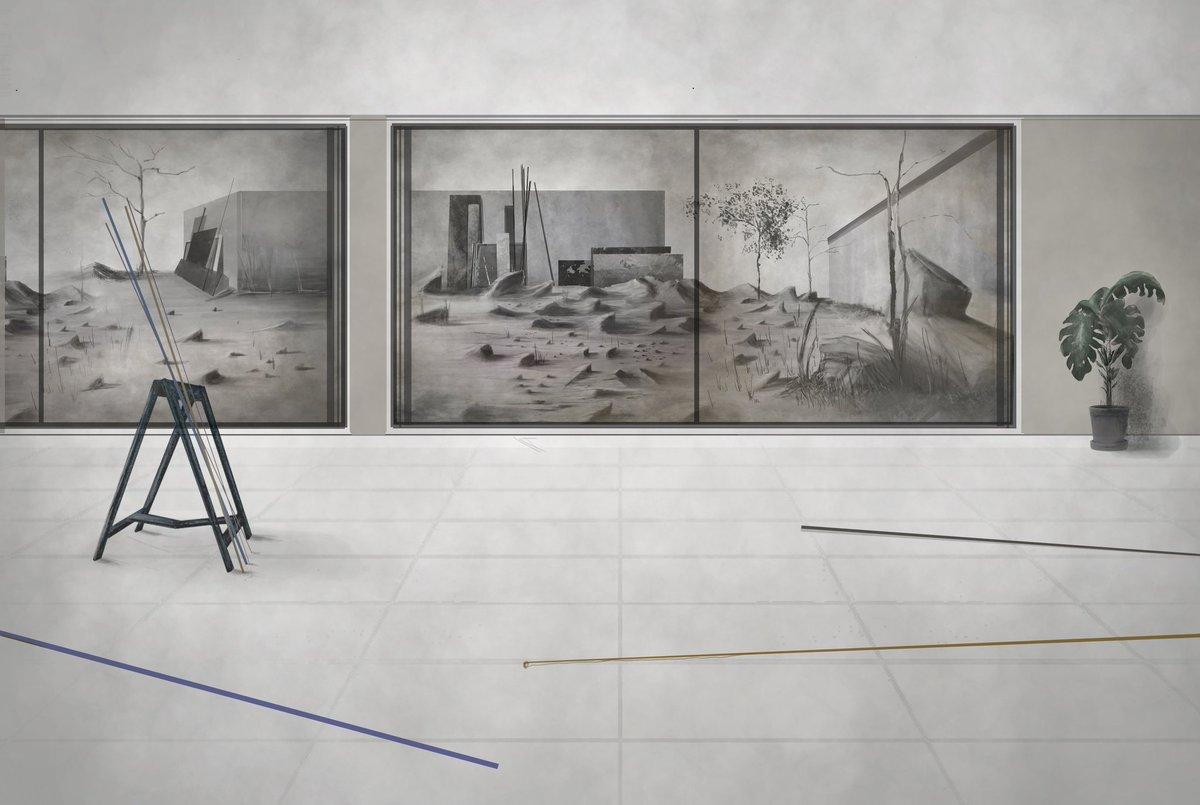 Virtual space (no.1)   #digitalart #norwichart #interiordesign #designfromhome #norfolkartist #fineart #gallery #virtualspace #photoshop #contemporaryartpic.twitter.com/Ja5hREAjL0