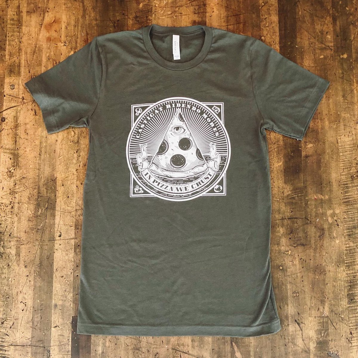 My apocalypse wardrobe - Grab yours in our shop!  #inpizzawecrust #pizzalover<br>http://pic.twitter.com/ZtgXsiJQWp