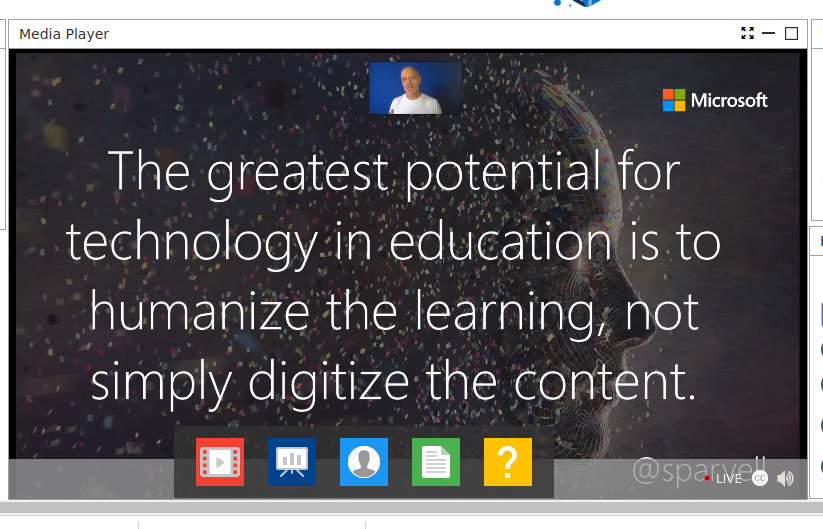Great advice from @sparvell 😌 That was amazing! #MicrosoftEDU #ConnectEd2020