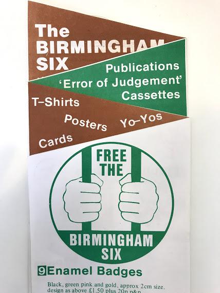 Suggestions of some unusual Irish political ephemera: a 'Free the Birmingham Six' Yo-Yo.