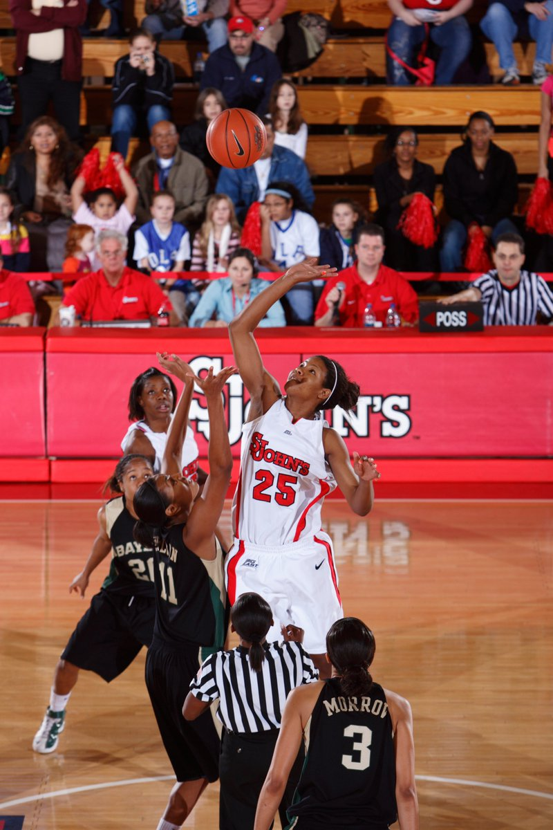 She's a great coach. But she was also a 𝘀𝗮𝘃𝗮𝗴𝗲 on the court 🏀  @CoachJoy2u ranks in the Top 🔟 at St. John's in:  ▪️ Field Goal % (51.7) - 6th ▪️ Rebounds (777) - 6th ▪️ Games Played (126) - T9th https://t.co/LmhWPDxA85