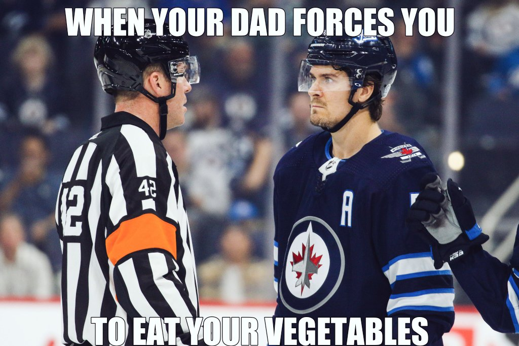 For all of the kids that rather have dessert first @NHLJets @markscheifele55 #JetsMemeMondays