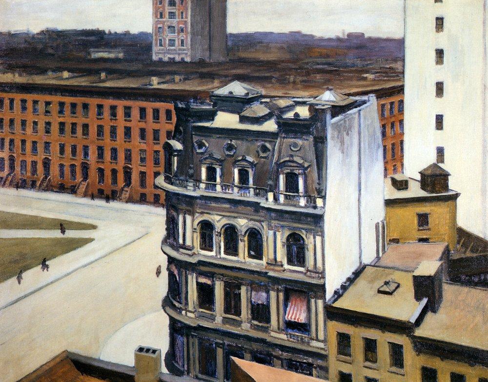 The City, 1927  https://www. wikiart.org/en/edward-hopp er/the-city  …  #hopper #newrealism <br>http://pic.twitter.com/bEnCvT5wjn