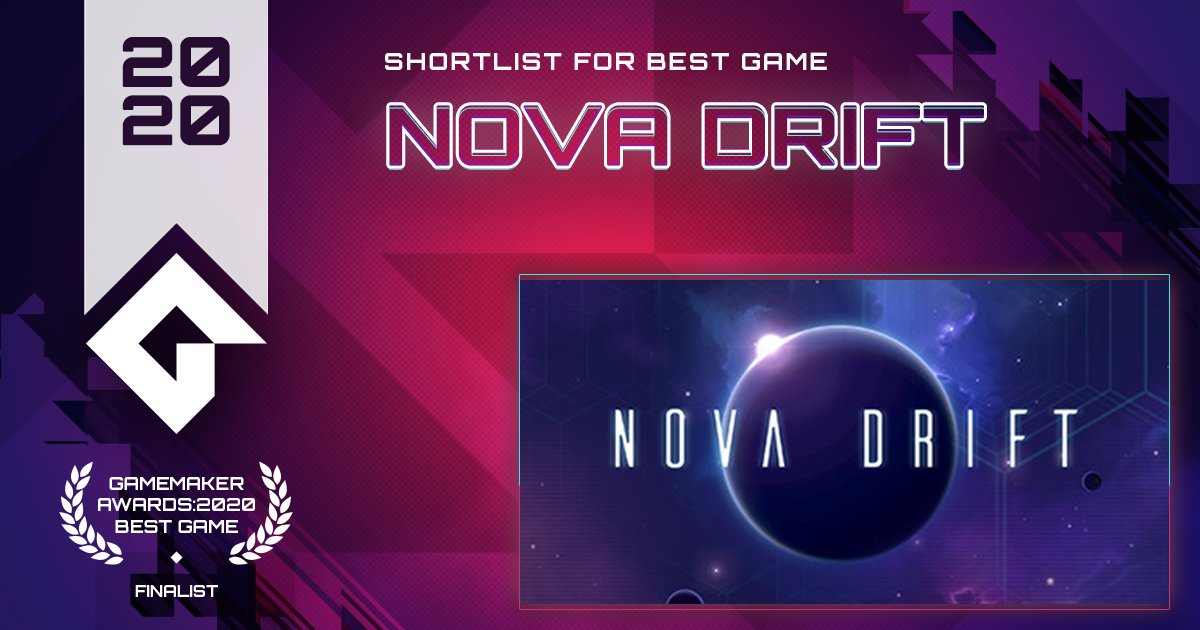 Nova Drift distils the mechanical depth and strategy of an ARPG into classic arcade space combat. @NovaDriftGame  VOTE Nova Drift for Best Game! https://t.co/sOoL4ZlEJ3 #GameMaker #GMBestGame https://t.co/CMsNJ7NEBF