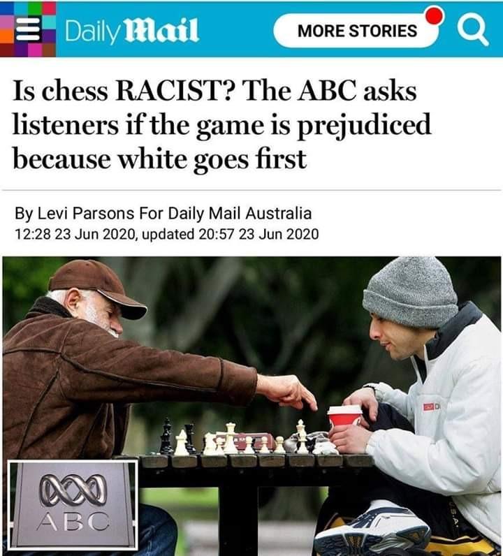 Arthur Weintraub On Twitter Xadrez E Racista O Jogo Seria Preconceituoso Porque Pecas Brancas Comecam Essa E A Noticia