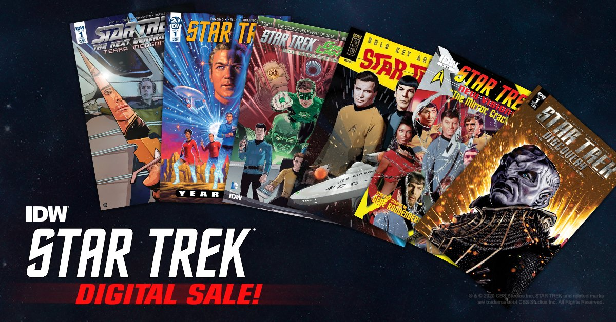 Make it so you don't miss out on a great deal on Star Trek comics! Check out the @comiXology sale here. https://t.co/xiDaJ8xP9C https://t.co/8akXEcF2lG