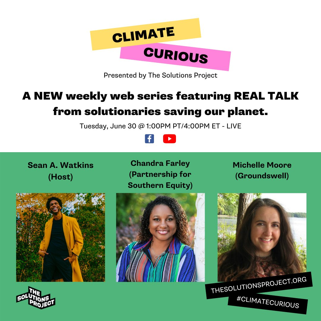The series premiere of #ClimateCurious, our new wkly web series, was a huge success, with 120,000+ ppl in 45 countries tuning in to watch! We are blown away by your support🙏🏽 For a fun and unfiltered show about activism check out Ep. 2 Tues, 6/30 @ 1pm PT LIVE on FB & YouTube.