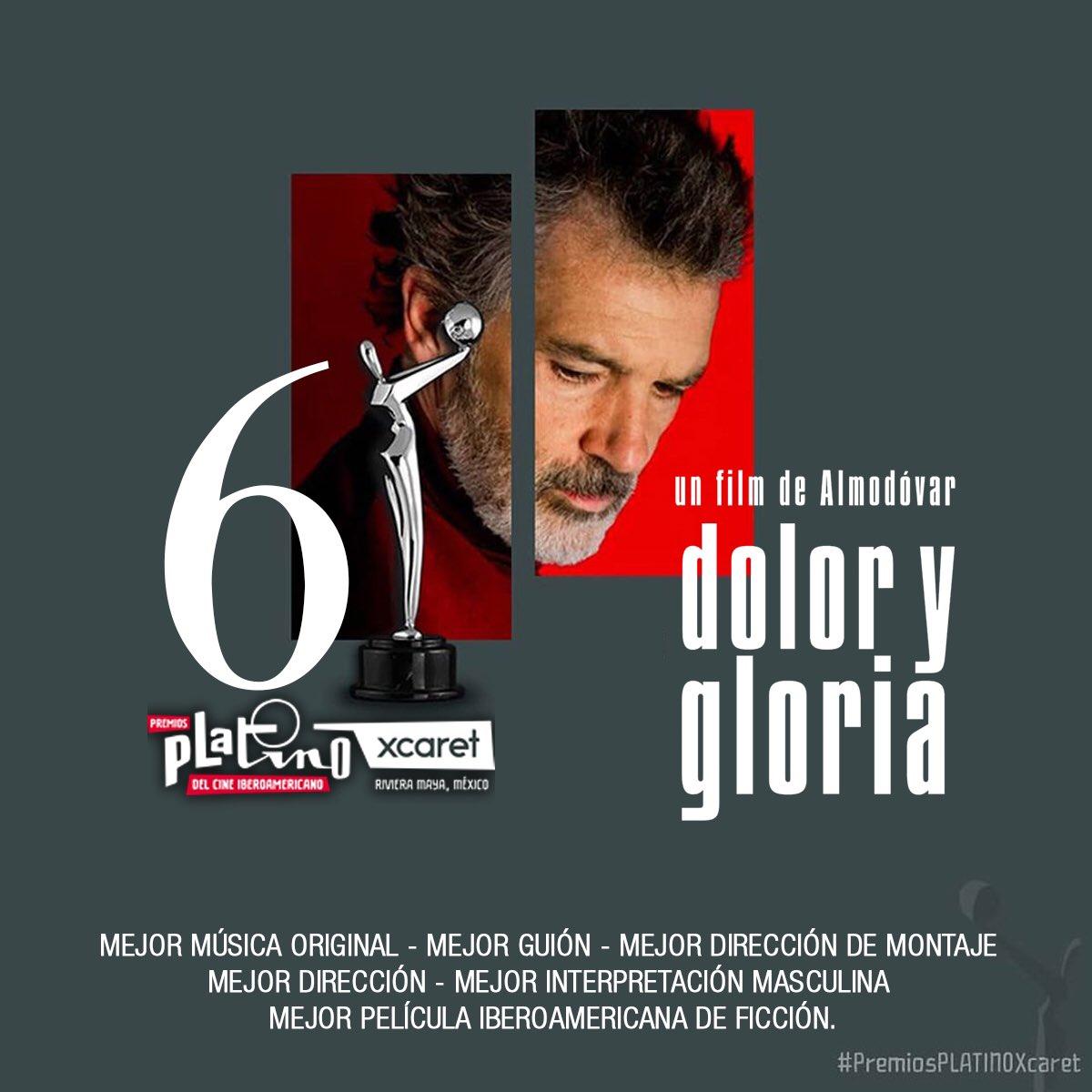 """""""Dolor y Gloria"""" recibe 6 Premios Platino. ¡Muchísimas gracias de parte de todo el equipo!!!  """"Pain and Glory"""" receives 6 Premios Platino. Thank you so much from P&G team!!! ____  @eldeseo @sonyclassics @PremiosPLATINO  #PremiosPLATINOXcaret #DolorYGloria #PainAndGlory https://t.co/7a3In56Wn5"""