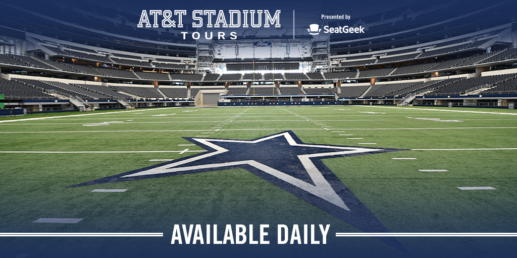Looking to get out of the Texas heat? Tours of #ATTStadium are available daily.   Get tickets NOW ➡ https://t.co/z8XOYyZjD8 https://t.co/DnjcJQP0CS