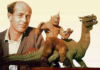 Stop-motion animation genius Ray Harryhausen was born 100 years ago today on June 29, 1920. When Harryhausen was setting the stage, giants, gods and monsters never looked so good. #rayharryhausen #stopmotionanimation #retroscifi<br>http://pic.twitter.com/UEVqiiLD4k