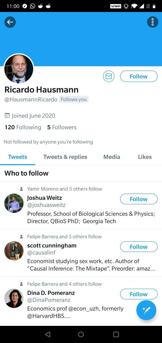 Somebody is trying to impersonate me. He has created an account called @HausmannRicardo, uses my photo, is following my followers and trying to chat with them. Please block and report him. <br>http://pic.twitter.com/fGgdlkUUWW