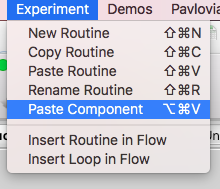 If you are using the same component repeatedly in @psychopy you can copy and paste that component using ctrl➡️copy then Experiment menu➡️paste component. #PsychoPyTips  [I am 100% guilty of creating a new fixation point for each routine in the past] https://t.co/Nm9u2tR8Aj