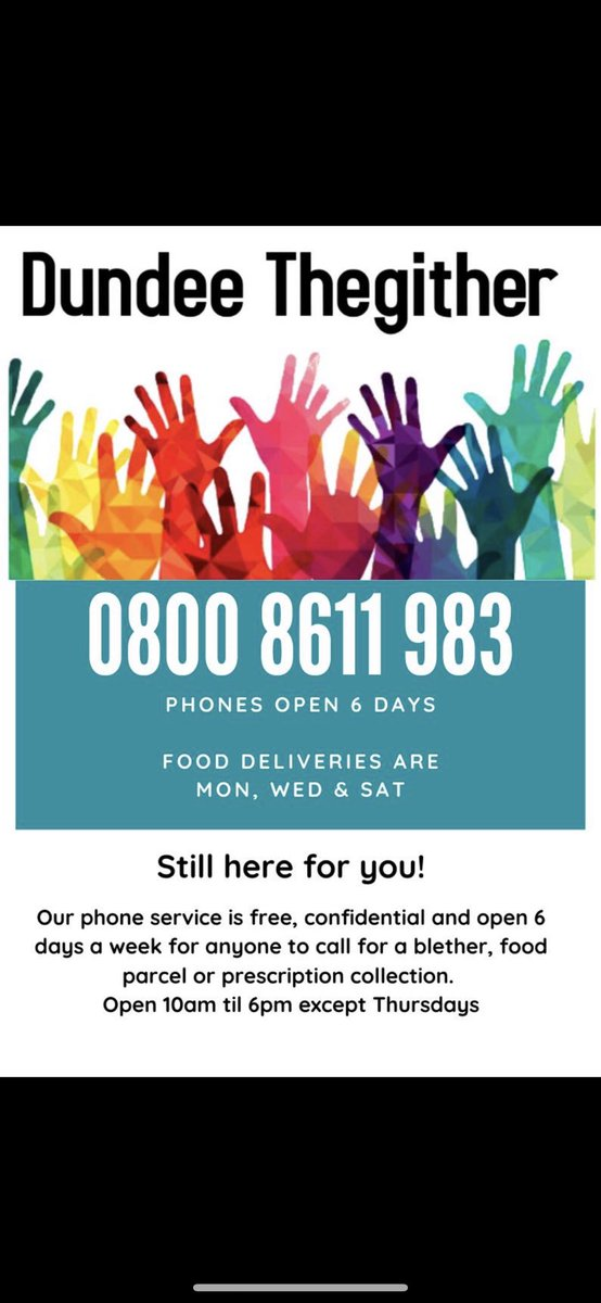 Another successful day providing food for 15 families l! We will be open again Wednesday,Saturday this week! Please get in touch if you or someone you know may be struggling to get food. Dundee Thegither are here to help! ❤️ https://t.co/C4g1mYQdsH