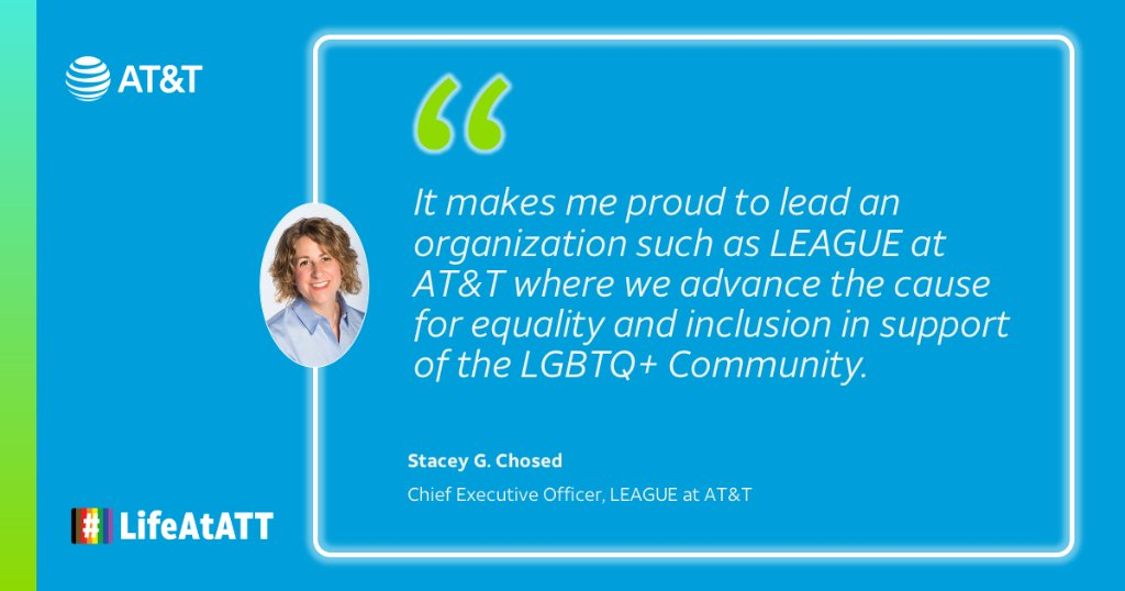 CEO of @LEAGUEatATT Stacey Chosed understands the stress from living two different lives. Read her thoughts on how a culture of inclusivity has helped her bring her best self to work:  #LifeAtATT #PrideMonth