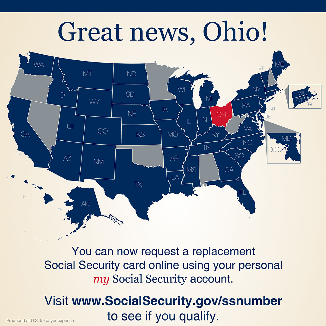 Social Security On Twitter Great News We Just Added A New State To Our Replacement Socialsecurity Card Application To See All The States Where You Can Request A Replacement Card With A