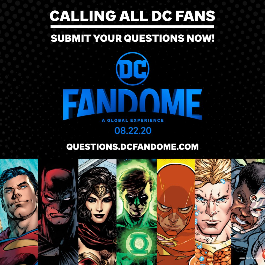 You've got questions! We've got answers. Submit your questions now about the DC Multiverse, and see if they're answered during #DCFanDome! https://t.co/Cvf7Wu6wd2 https://t.co/lOUGil7gel