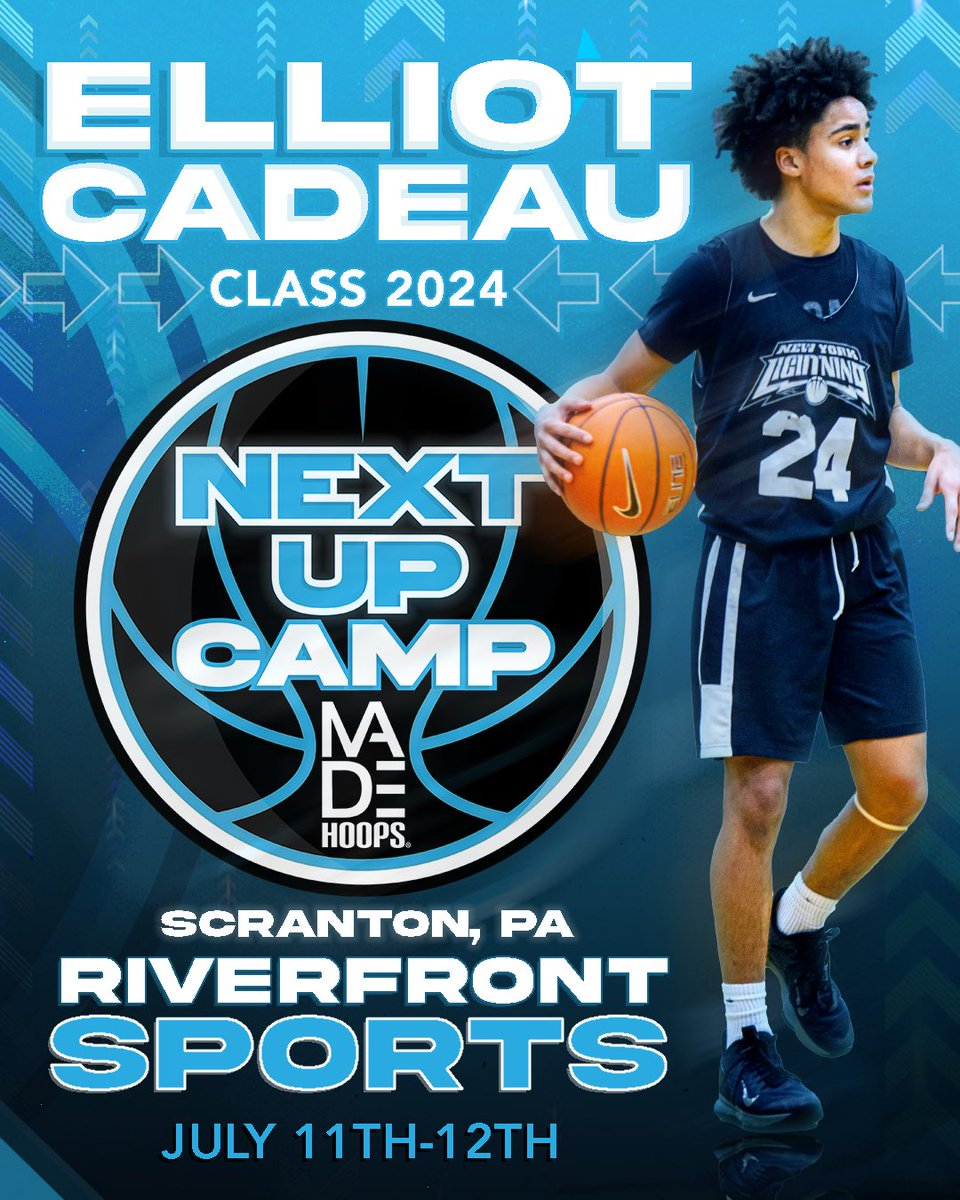 🏆 Winter Circuit Champion & nationally respected 2024 PG Elliot Cadeau is running it back at Next Up Camp!  🗓: July 11th-12th, 18th-19th, & 25th-26th ⛹️: Classes 2021-2026 🏟: Riverfront Sports 📍: Scranton, PA 🎥: Live Streamed  Register: https://t.co/Pwy8j4Nvqa https://t.co/8zy3TIofJ7