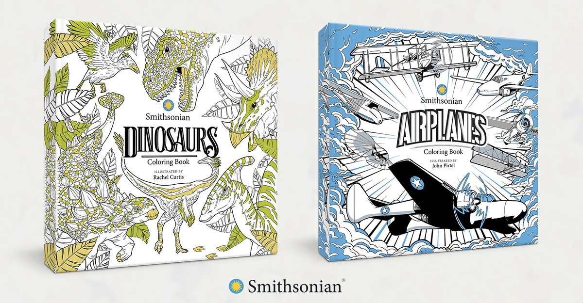 IDW's publishing collaboration with @smithsonian debuts in October with Airplanes: A Smithsonian Coloring Book and Dinosaurs: A Smithsonian Coloring Book! https://t.co/YEPQPKDkzm https://t.co/DOxLLZhFDY