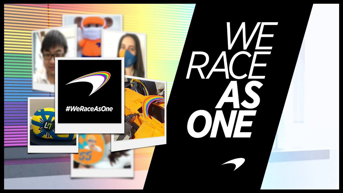 Image for the Tweet beginning: We go again. Together.  #WeRaceAsOne 🌈