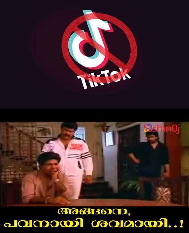 ...ടിക് ടോക് എന്ന വന്മരം വീണു; ഇനിയാര്...#trollmalayalam #TikTok #tiktokbanindiapic.twitter.com/W1YuZ3b6Tg