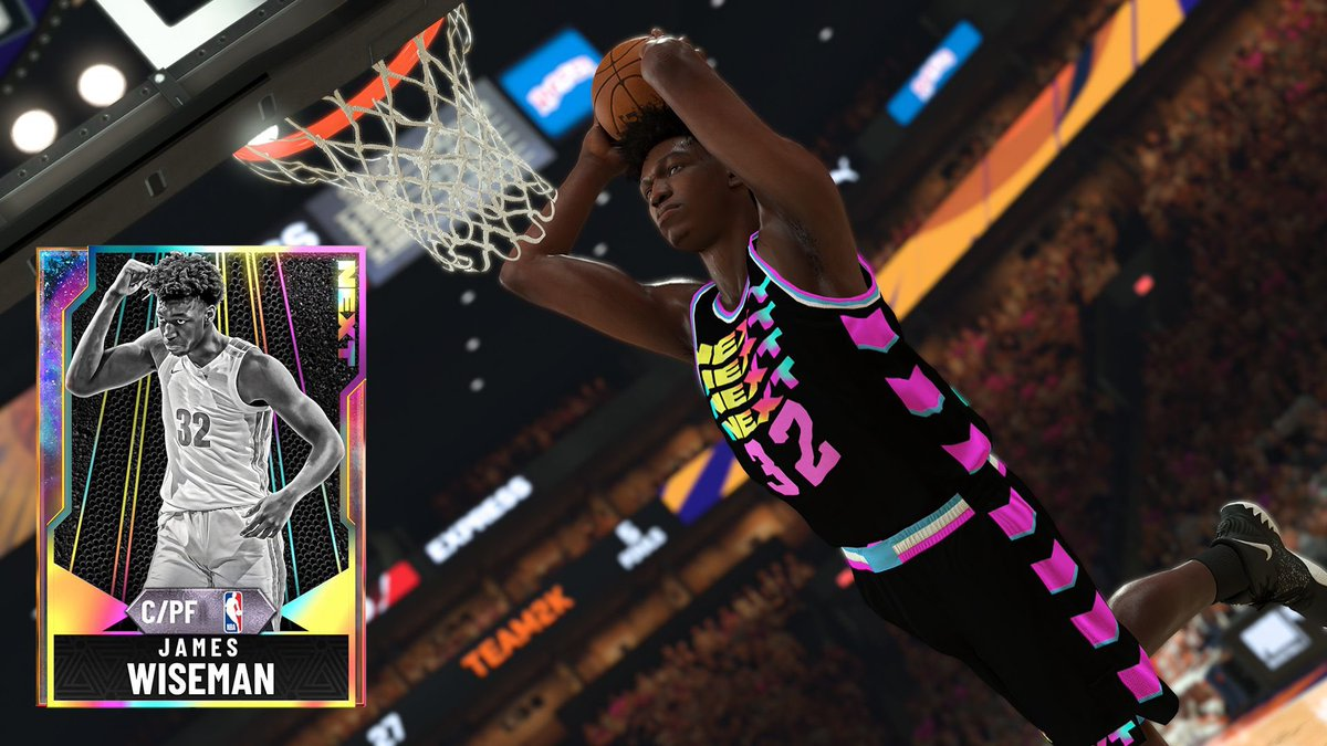 following up with my NEXT pack draft pick I'm giving away a FREE galaxy opal James Wiseman for the community & all you have to do is FOLLOW ME & RETWEET THIS TWEET! Picking a random winner tomorrow! 😎🔥🔥🔥 #NBA2K20MyTEAM https://t.co/zVm2f3WDdh