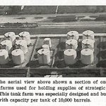 """#FunFact - GSA managed the strategic stockpile of war supplies until 1988, when it was then transferred to the Department of Defense.   Shown in this 1957 photo are one of the """"tank farms"""" for strategic oils; in this case #CoconutOil!"""