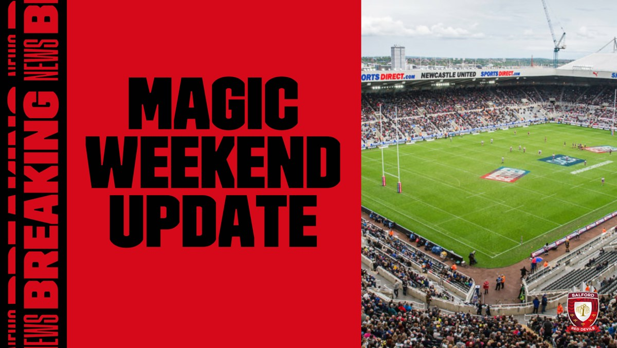 🚫 @SuperLeague have confirmed @daciauk Magic Weekend 2020 is cancelled. 🤝 It has been agreed in principle that Dacia Magic Weekend 2021 will take place at St James' Park on 29 & 30 May! 🎟️ 2020 tickets are valid for 2021! 💪 #TogetherStronger READ➡️bit.ly/2ZlyhOX