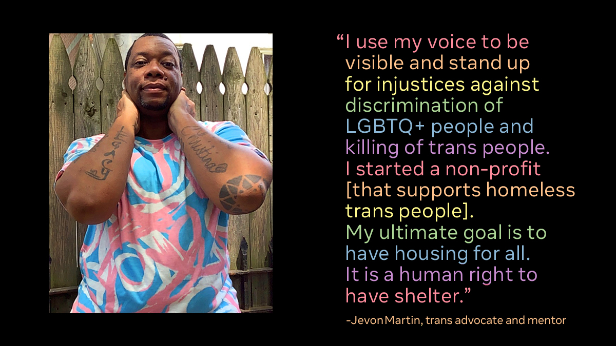 This year for #Pride, we're celebrating by showcasing Black LGBTQ+ activists and community leaders.  Meet @ED_JevonMartin (he/him).  He's the founder and executive director of @princessjanaepl, an organization that supports the homeless trans population. https://t.co/XAXvW5e2Gb