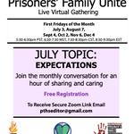 Image for the Tweet beginning: Prisoners' Family Unite Live Virtual
