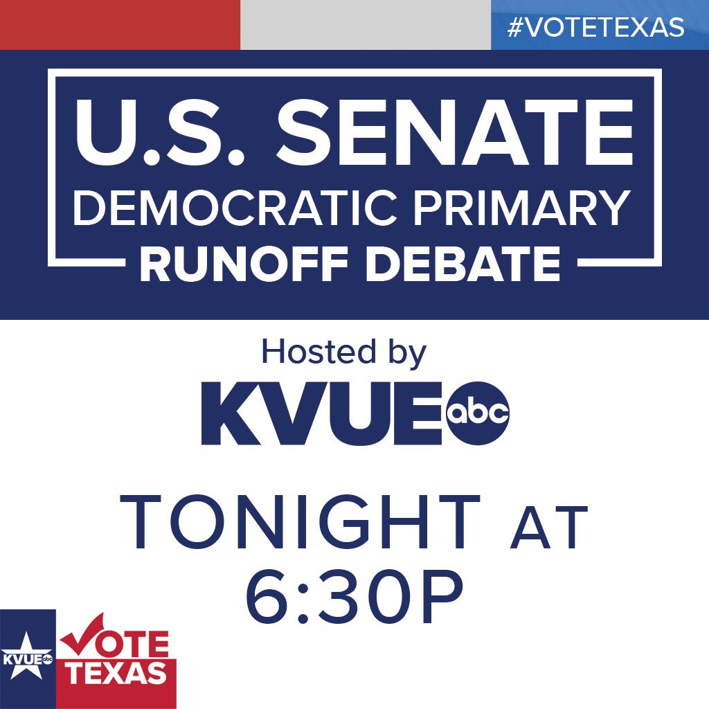 It's Debate Night in Austin, y'all.    @mjhager + @RoyceWestTX participate.  @AshleyG_KVUE moderates.   #atx #votetexas #Austin  #DemDebate @TEGNA https://t.co/k77YrnwRZ7