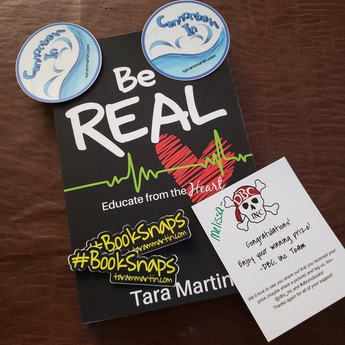 So excited to read my new book! Thank you @TaraMartinEDU @dbc_inc #dbcincbooks #beREAL #booksnaps
