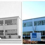 It's GSA's 71st birthday today!   Here's a look at the Auburn, WA GSA regional office in 1964 right after the building opened and a photo of the building now.   @US_GSAR10