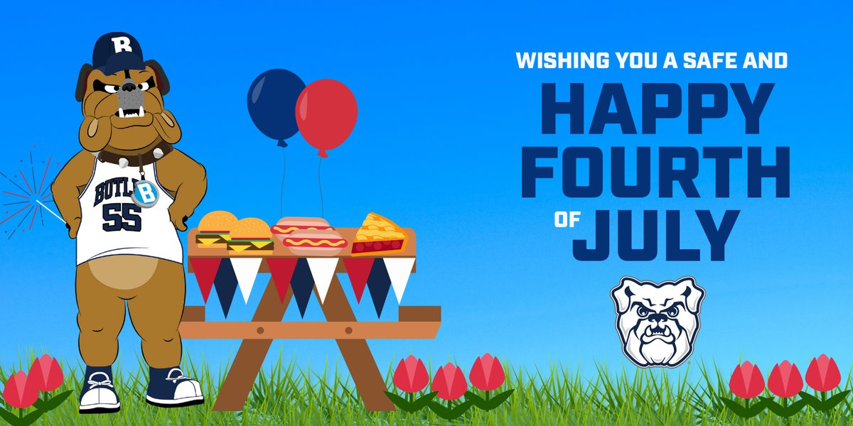 Red. White. and Butler Blue.  Happy Fourth of July, Dawgs! https://t.co/iH6v6AGcJO