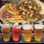 Shake out of your Monday funk at DJ's Dugout! $8.99 Chicken Philly with Fries or Tater Tots, $7 32oz Signature Cocktails, & $6.50 32oz Domestic Draft Beers! 𝗔𝗟𝗟 𝗟𝗢𝗖𝗔𝗧𝗜𝗢𝗡𝗦 𝗡𝗢𝗪 𝗢𝗣𝗘𝗡 𝗨𝗡𝗧𝗜𝗟 𝟭𝟭𝗣𝗠 𝗗𝗔𝗜𝗟𝗬! Dine-in or carry out here https://t.co/duqkoKx1Ac