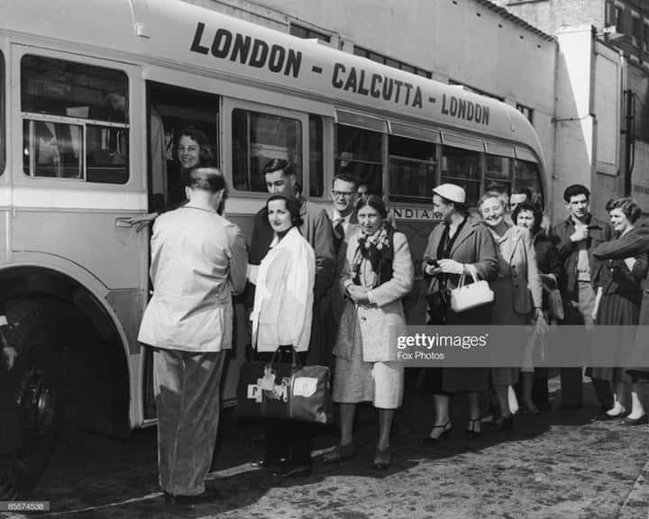 Literally just finding out about the London-Calcutta bus service which apparently existed well into the 70's. Wow. 😳😳 https://t.co/VZAHtkbwzD