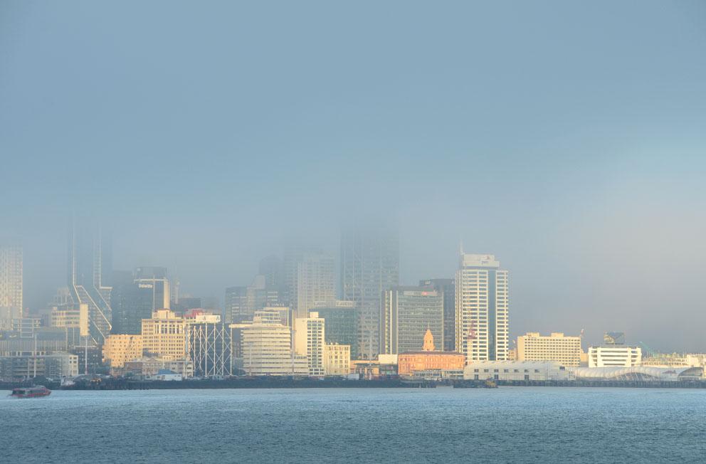 Auckland city in the fog...  #fog #Auckland #ourAKL #DevonportVillage #DevonportNZ #WeatherwatchNZ #NikonNZ #NZStuff #Waitemata #PortsOfAuckland #ferrybuilding