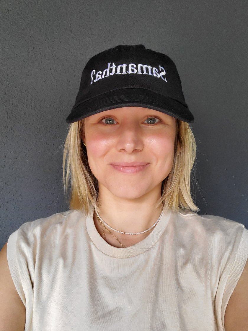 Samantha? dad hat by me & Kristen Bell. If you dont get the joke, hat's probably not for you. All proceeds go to No Kid Hungry and Color of Change. Please also check out these orgs & consider donating to @nokidhungry & @ColorOfChange - manheadmerch.com/products/brain…