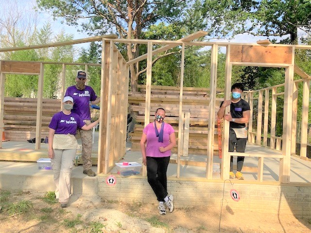 A big thank you to Leidos volunteers who came out last Saturday to finish the framing at Houston. We appreciate your support for Habitat throughout the years!!! @LeidosInc