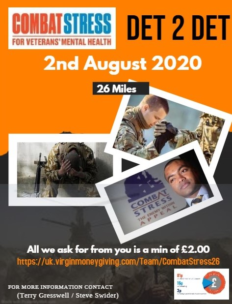 On 2nd Aug 20 we'll be walking 26-mile around Wolverhampton and Dudley , Army Cadet Force. We are hoping to raise money for Combat Stress which supports British Armed Forces veterans who suffer from mental health conditions. Please donate a few quid  https://t.co/P0Rn8e7xID https://t.co/bOfUlnZWXq