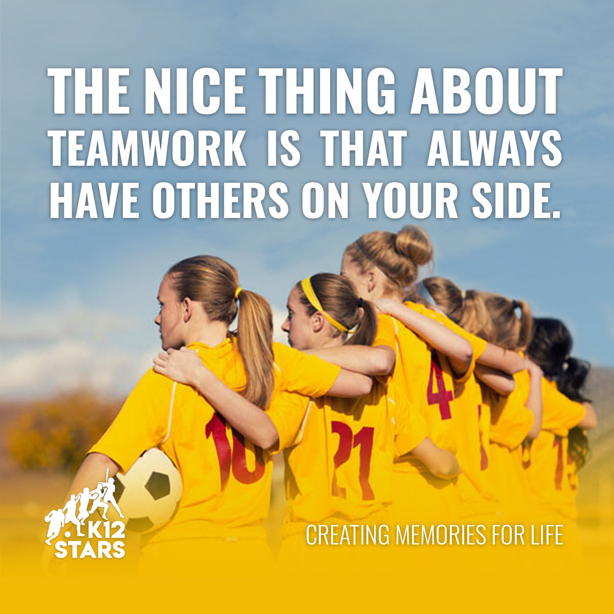 The nice thing about teamwork is that always have others on your side. #sports #youthsports #youthsportstraining #values #thoughts #youth #kids #beliefs #loveschool4 #k12starspic.twitter.com/VILCVjOtnb