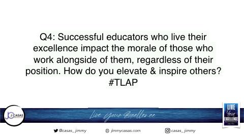 Q4: Let's bring it home! #TLAP #LiveYourExcellence