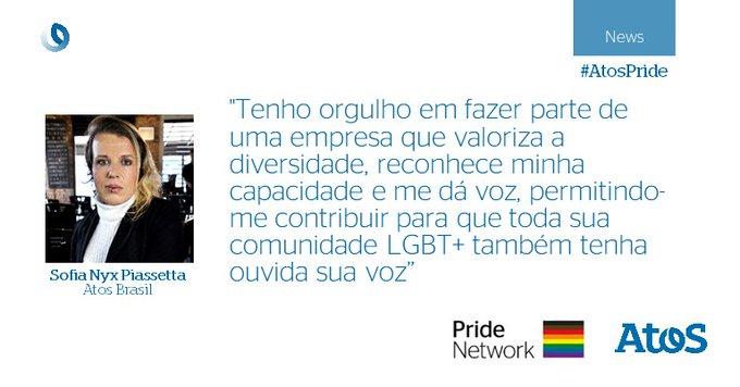 Junho marca o mês do orgulho ?? Os colaboradores da #AtosPride em todo o mundo...