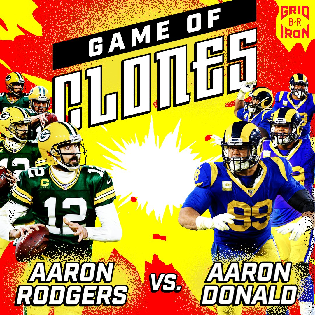THE AARON BOWL 🎮 53 @AaronRodgers12 🎮 53 @AaronDonald97 Our second edition of #GameOfClones drops Thursday