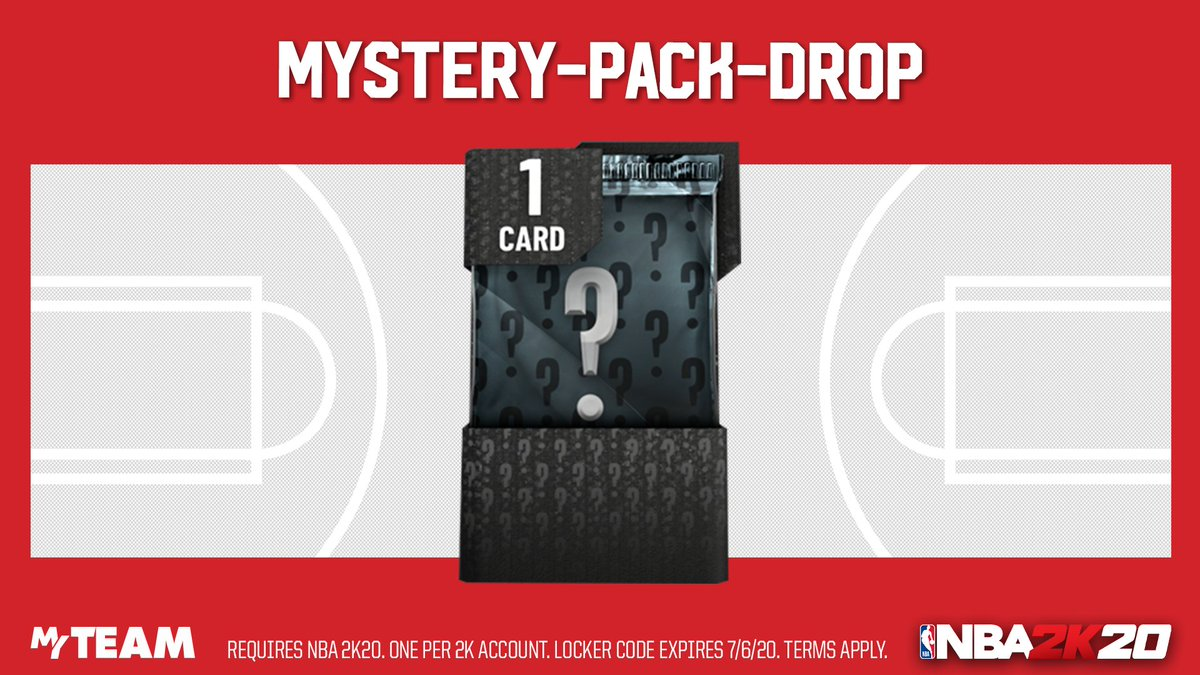 🚨 Locker Code. ICYMI Mystery Packs were droppin on MyTEAM this past weekend. Use this code to pick up one more, and let us know what you get 👀 https://t.co/32kVFjplJl